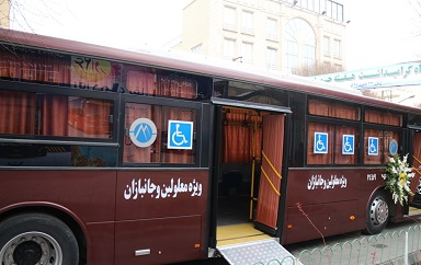 اتوبوس ویژه جانبازان و معلولان شاهینشهری در دهه ولایت به بهرهبرداری میرسد