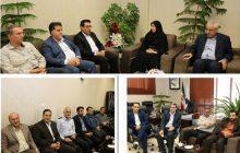 شهردار و معاونانش به دیدار رئیس جدید شورای شهر شاهینشهر رفتند
