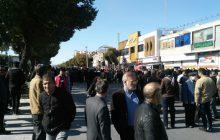 معترضان به گرانی بنزین در شاهینشهر خیابان امام را مسدود کردند+تصاویر