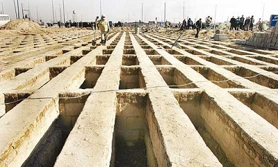 قبرهای آرامستان بهشت معصومه (س) شاهینشهر 2 طبقه میشود